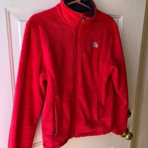 North Face Pink Fleece Jacket